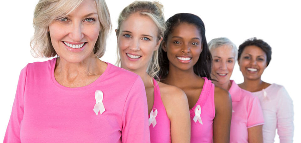 image of women supporting breast cancer awareness