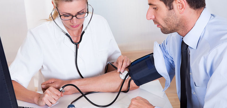 image of patient getting blood pressure check