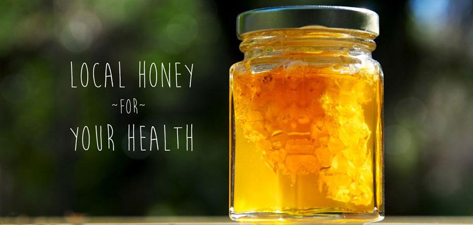 image of local honey in mason jar
